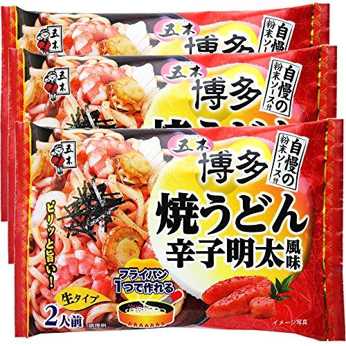五木食品 博多焼うどん辛子明太風味 418g×3袋