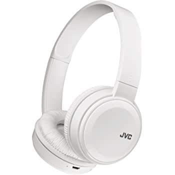 JVC HA-S38BT-W ワイヤレスヘッドホン Bluetooth対応/連続17時間再生/バスブースト機能搭載/ハンズフリー通話用マイク内蔵/フラット折りたたみ式/ホワイト