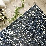 ベルギー製 おしゃれ 手書き風 ライン デザイン ラグ カーペット ステッチライン 140x200 cm ジーンズカラー ブルー 約 1.5畳 ウィルトン織 床暖房 ホットカーペット 対応