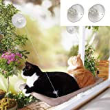 Angela&Alex Window Cat Bed, Cat Window Seat Window Perch Bed Hammock with 2 Extra Replaceable Suction Cups Space Saving All-A