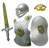 Madrugada 伝説の騎士 フル装備 5点セット (ソード+シールド+アーマー+ヘルム+ベネチアンマスク) キッズコスチューム 男女共用 S239