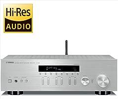 ヤマハ ネットワークオーディオレシーバー ワイドFM・AMチューナー Wi-Fi/Bluetooth/ハイレゾ音源対応 シルバー R-N303(S)