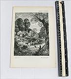 Antique Print - The Green Lane