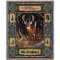 鹿Lodge Tapestry Throw pc3340-t