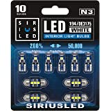 SIRIUSLED N3 DE3175 31MM 194 168 2825 Combo LED bulbs white Super Bright 300 Lumens 3030 Chipset for Japanese Car Truck Inter