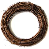 Ougual DIY Crafts Natural Grapevine Wreaths (4 Inch, 4 Pack)