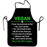 (Vegan) - Lily's Rossne Aprons for Women and Men Funny Vegan Chef Kitchen Cooking and Baking Apron I am Still a Vegan Bib Apr