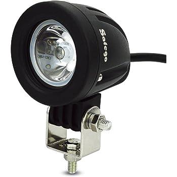 Safego 10W LED作業灯 CREE製 丸形 狭角 ワークライト LED車外灯農業機械 オフロード車両や公園 庭の照明など フォグランプ ホワイト 6000K 12V-24V対応 10WR-SP