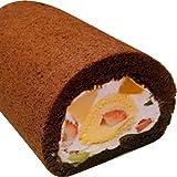 【通販限定】まきまきクルクルフルーツロールケーキ 18cm 【Wクリーム】 生クリーム カスタードクリーム ココア 手土…