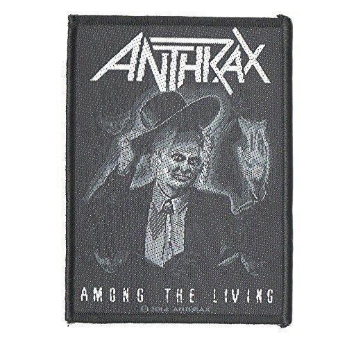 [해외](앤스 랙스) ANTHRAX 아몬구 더 리빙 접착제없이 자수 패치 공식 문장/(Anthrax) ANTHRAX Among the Living Self Embroidered Patch Official Patch