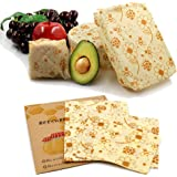3 Pack Beeswax Food Wraps Washable and Reusable. Excellent Alternative to Single use Plastics. Great for Storage for Leftover
