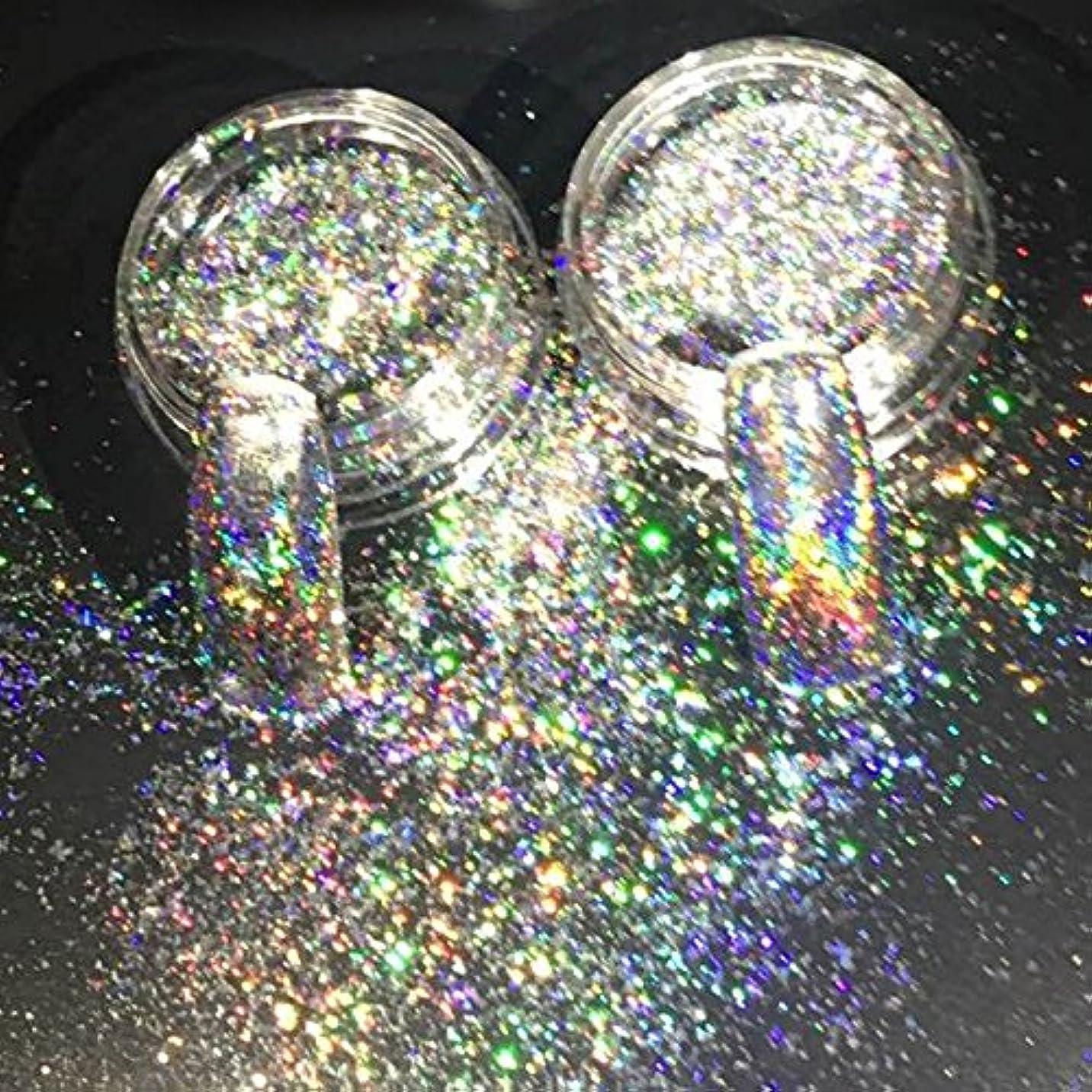 クライストチャーチ合体人生を作るNew Nail Glitters Galaxy Holo Flakes 0.2g/box Laser Bling Rainbow Flecks Chrome Magic Effect Irregular Nail Art...