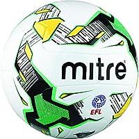 MitreデルタMTCH Hyperseam FL FBサッカーボール、ホワイト/ブラック/グリーン、サイズ4