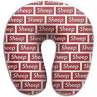 U字型枕 ネックピロー Sheep ソフト 首枕 飛行機 オフィス トラベル 旅行用 ビジネス 出張 車内 昼休み 休憩 安眠 携帯枕