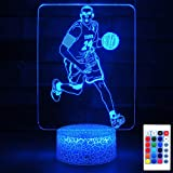 HYODREAM Kobe Night Light Optical Illusion 3D LED Lamp for Adult or Kids as on Birthdays or Other Holidays