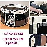 折りたたみ 八角形 ペット ペットハウス 犬猫 アウトドア ペットテント 室内室外兼用 (L, コーヒー)