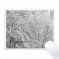 雪の覆われた木の写真 PC Mouse Pad パソコン マウスパッド
