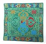 チベット 法具  / 仏像 / おりん / 木魚  五鈷杵 仏具・法具用 座布団・マット・絨毯 風水 G-6 (緑)