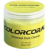 COLORCORAL キーボード 掃除 スライム 強力粘着 隙間 ホコリ取り 車内掃除 粘着クリーナー 繰り返し使用 多用途 柔らかい 160g 黄