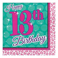Creative Converting 317275 16 Count Paper Lunch Napkins 13th Birthday Sparkle Spa Party! [並行輸入品]