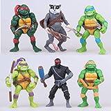 Ninja Turtles 6 PCS Set TMNT Action Figures -Mutant Ninja Action - Ninja Turtles Toy Set - Ninja Turtles Action Figures Mutan