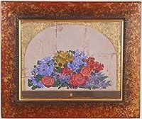 花 絵画 薔薇 油絵 油彩画 静物画 中西賢二 「花の窓」 額付き