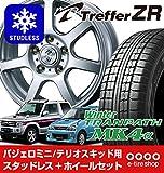 【4本セット】TOYO (タイヤ)トーヨータイヤ WINTER TRANPATH MK4α 175/80R15 90Q (ホイール)ウェッズ トレファーZR PCD114/5H シルバー 装着車種:テリオスキッド(15×5.0 +50)