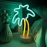 LED Coconut Palm Tree Neon Signs Kids Night Lights Bedside Lamp Creative Home Bedside Light Dorm Decor Light Marquee Signs De