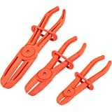 Juvale 3 Pack Hose Clamp Pliers - Pinch Pliers - Line Clamps for Brake Hoses, Fuel Hoses, Gas Lines, Coolant Hoses, Radiator