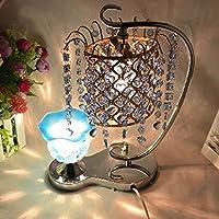 dmmssガラス/ Small Rableランプシルバー星雨プラグインフレグランスランプ部屋小さなテーブルランプ(高38cm、Wide 14cm