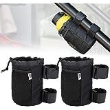 2 pcs UTV Roll Bar Cup Holder Walker Stroller Rollator Wheelchair Drink Holder Washable Collapsible Water Bottle Holder Adjus