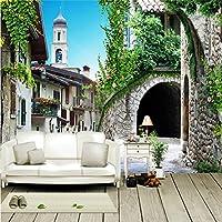 農村部のヨーロピアンスタイルをロマンチックな大規模な壁画壁紙リビングルームの壁紙の破片テレビ壁紙壁紙 430cmX300cm