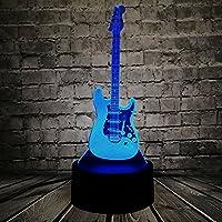 クリエイティブ3dライトギターモデルIllusion 3dランプLED 7色変更USBタッチセンサーデスクランプ夜ライト