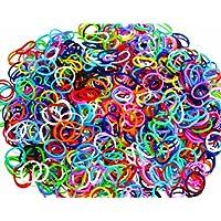 ETHAHE 600pcsカラフル ツイスト多彩な色ラテックスフリー織機リフィルゴムバンドブレスレットc-クリップ25枚付カラフル