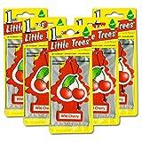 リトルツリー エアフレッシュナー5枚セット 【Wild Cherry ワイルドチェリー】LittleTree /芳香剤/カーフレッシュナー