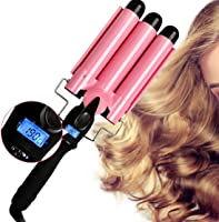 Hair Curler 3 Barrel Curling Hair Waver Iron Curling Wands Quick Heated Fast Heating Ceramic Hot Tools Professional...