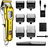 Hatteker Mens Hair Clippers Professional Cordless Hair Beard Trimmer Haircut Grooming Kit Rechargeable