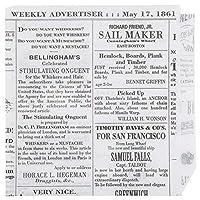 食品グレードTissue Paper Deliラッパー/ Double Openバッグ、クラシックホワイトNewsprint