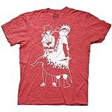 Ripple Junction Naruto Shippuden Naruto and Sasuke Outline Adult T-Shirt