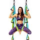 YOGABODY Naturals Yoga Trapeze, Blue/Green