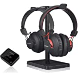 Avantree HT41899 Dual Bluetooth 5.0 Wireless Headphones for TV Watching with Transmitter (Digital Optical AUX RCA PC USB), 40