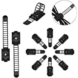 50 Pcs Adjustable Cable Clips,Viaky Self Adhesive Black Wire Clips Cable Management Cable Organizer Wire Holder Clamps - Blac