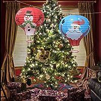 LEDMOMO クリスマス 熱気球 提灯 パーティー 結婚式 幼稚園用 装飾 雪だるま 柄提灯