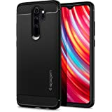 Spigen ACS00268 Rugged Armor Compatible with Xiaomi Redmi Note 8 Pro Case, Robust TPU Silicone Black