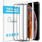 "Tethys Glass Screen Protector Designed for iPhone Xs Max (6.5"") [3-Pack] [Edge to Edge Coverage] Full Protection Durable Temp"