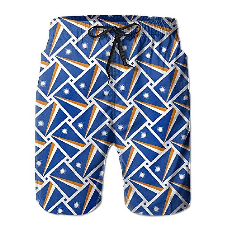 マヒール諸島の旗 メンズ サーフパンツ 水陸両用 水着 海パン ビーチパンツ 短パン ショーツ ショートパンツ 大きいサイズ ハワイ風 アロハ 大人気 おしゃれ 通気 速乾