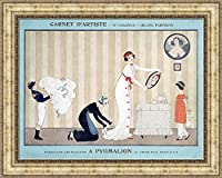 (v12 – 18 – 19 ) Georges Barbier A Pygmalion_フレーム_キャンバス_ Giclee_プリント_ w29 _ X h22 +[Large] #07-Silver V12-19G-MD393-05