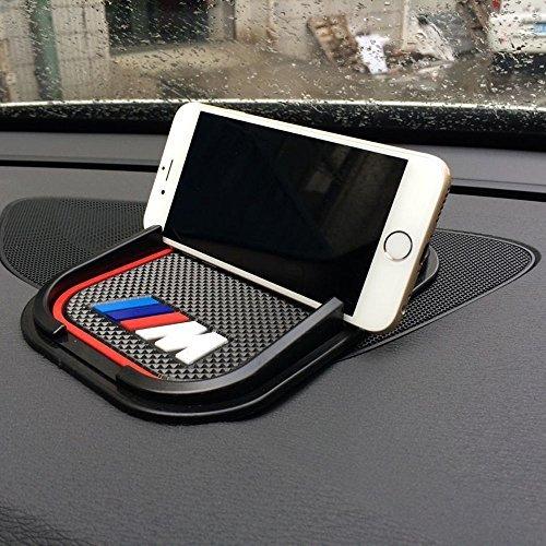 unakim --車内部滑り止めシリコンパッド/ / / M電話ホルダーマウントGPS Mat for BMW