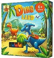Dino Land アクションと冒険 恐竜ゲーム 女の子と男の子向け 6歳以上のお子様に最適 家族向けの教育用ボードゲーム