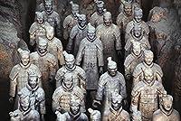 """「Army壁アートプリントのテラコッタWarriorsで西安、Shaanxi、Chi byデザインPics 24"""" x 16"""" 5296614_3_0"""